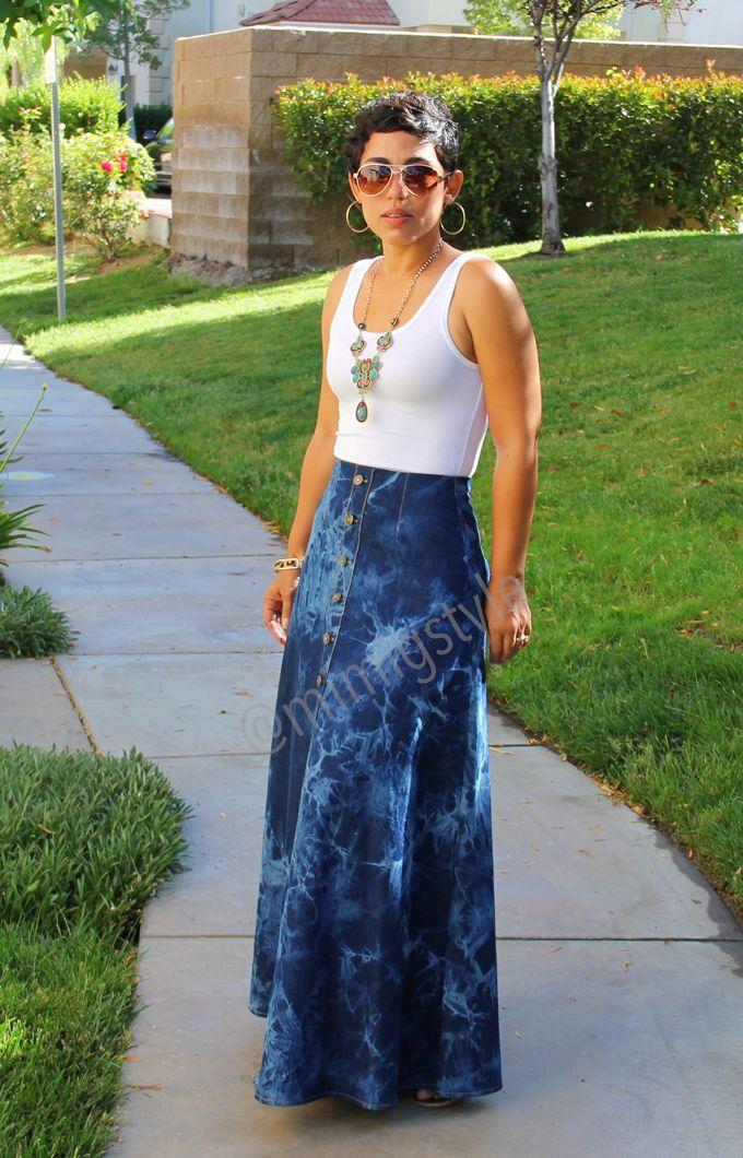 Fashion, Lifestyle, and DIY: Casual Monday: #DIY Tie Dye Maxi Skirt + Tank