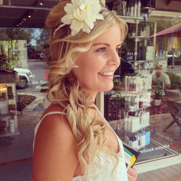 Formal/Grad Hairstyle. #graduation #hairstyle #formal #blonde #beachy #waves #braid #natural