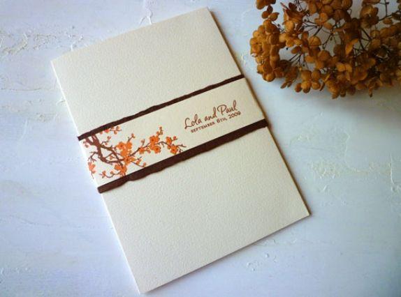 Napa Map Wedding Invitation Winery Burnt Orange