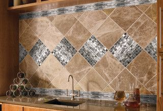 Questech backsplash - traditional - kitchen - omaha - by Sunderland Brothers Company - Omaha