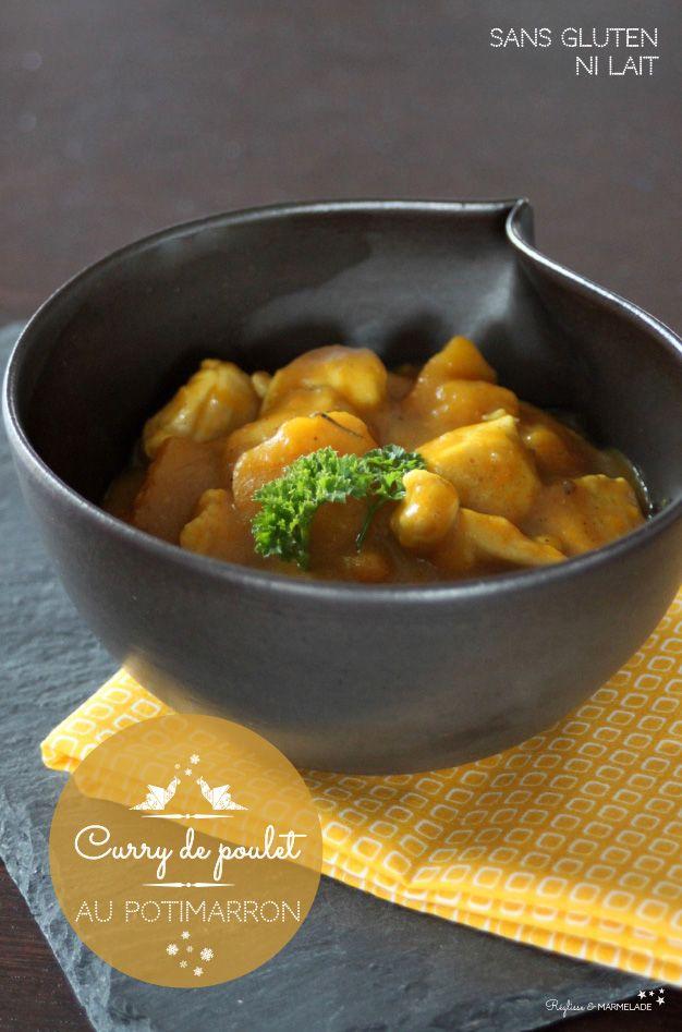 Curry de poulet au potimarron sans gluten sans lait