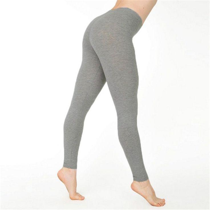 7 Colors 2017 Autumn Fashion Women Slim Legging Pant Casual Solid High Elastic Waist Legging Fitness Pants Sport Yoga Trouser #Affiliate