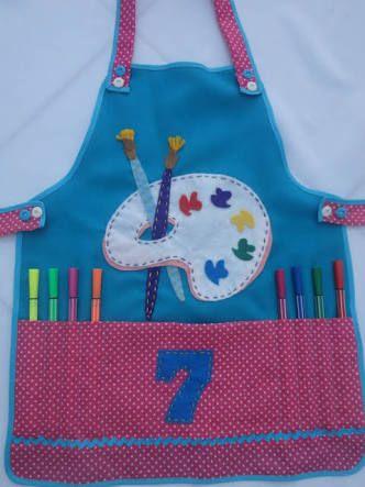 Resultado de imagen para molde de avental infantil