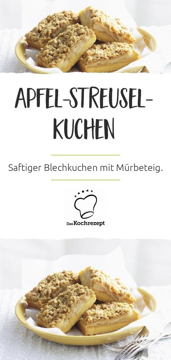 Apfel Streusel Kuchen Mit Murbeteig Vom Blech Rezept Streusel Kuchen Apfelstreuselkuchen Murbeteig