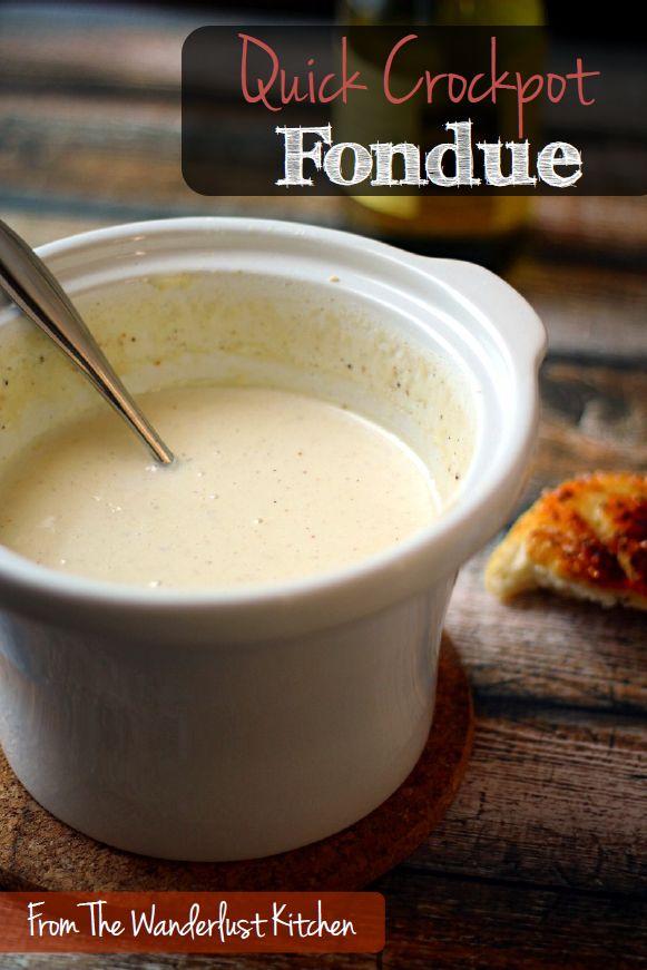 crockpot cheese fondue
