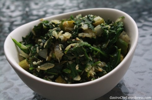 Spicy toasted coconut spinach! | FOOD | Pinterest