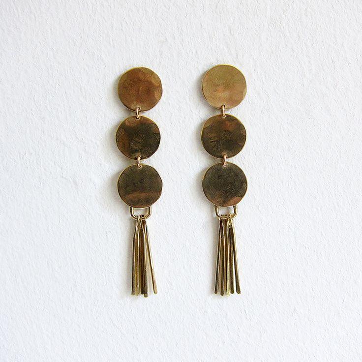 Lola earrings - brass