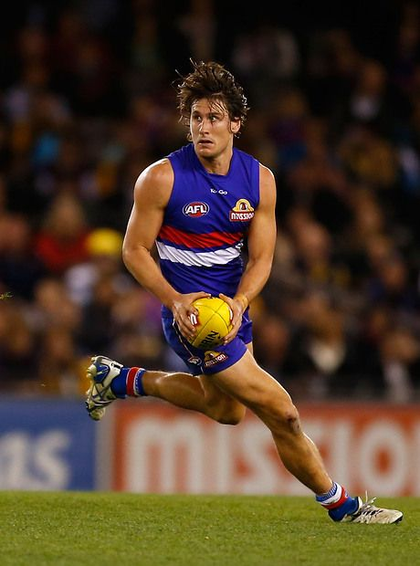 Ryan Griffen of the Bulldogs in action during the 2013 AFL Round 18 match between the Western Bulldogs and the West Coast Eagles at the Etihad Stadium
