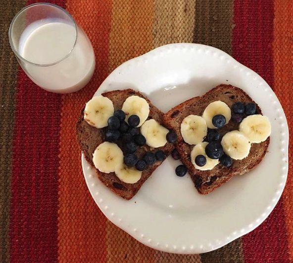 Healthy Breakfast! #desayunosaludable  #almondmilk #lechedealmendras #healthytoast #healthyrecipes #breakfast #breakfastideas #breakfastrecipe