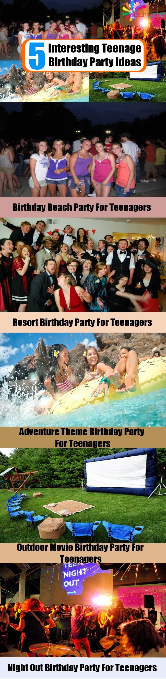 5 Interesting Teenage Birthday Party Ideas