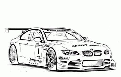 Free Printable Race Car Coloring