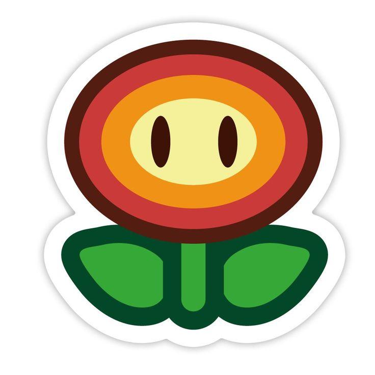 paper mario sticker star  fire fiower sticker