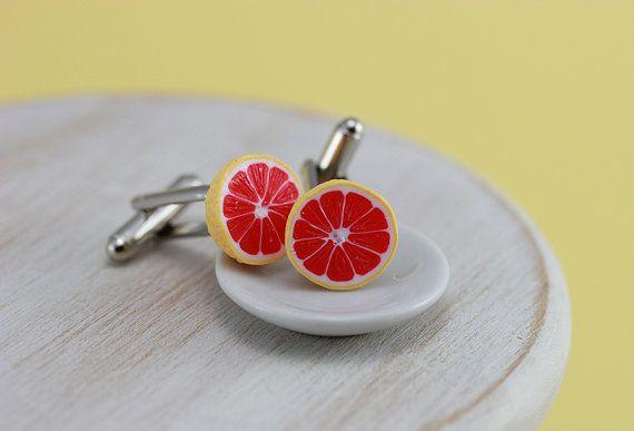 Juicy Grapefruit Cufflinks van shayaaron op Etsy