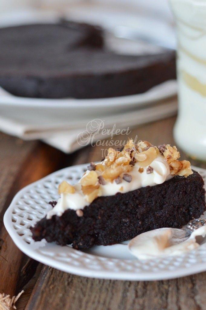 Smeuïge (geraffineerde) suikervrije brownie met banaan en courgette (+ glutenvrij en lactosevrij)