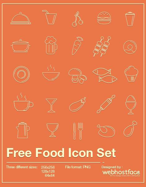Today`s Tasty Bites – Foody Icon Set | WebHostFace Blog #Food Icon Set #Foody Icons Pack #Free Food Icons