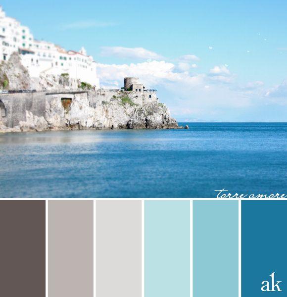 tower-inspired <b>color</b> <b>palette</b> // warm gray, sky <b>blue</b>, cerulean // # ...