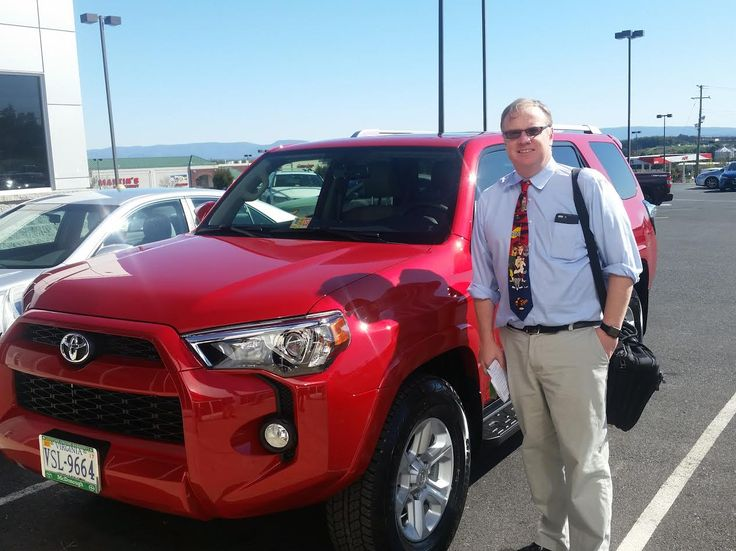 Andrew West is ready to hit the trails in his brand new Toyota 2016 4Runner. Sales Associate: Brian Strahin