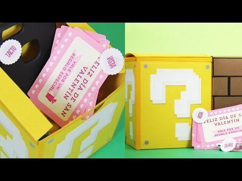Caja de los sentidos (inspirada en Mario) - San Valentín | Craftingeek - YouTube
