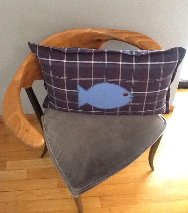 pillow with fish...