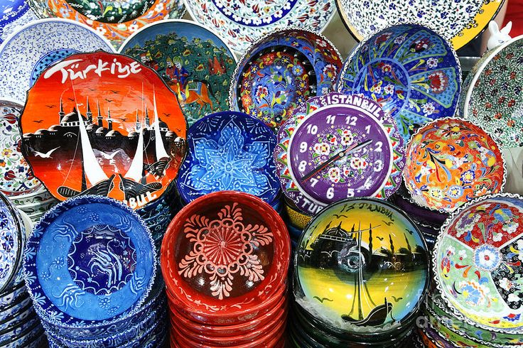 Painted Ceramic Bowls In The Grand Bazaar Istanbul by Robert ...