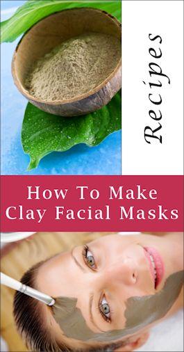[ DIY: Clay Facial Masks ] Using natural clay powder such as Kaolin, Bentonite, Fuller's Earth, etc. ~ from tipnut.com