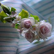 Магазин мастера Maria Krys: заколки, букеты, диадемы, обручи, цветы, броши