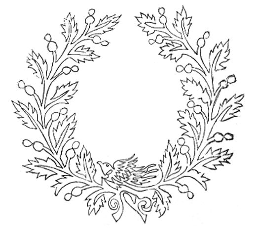 Single line embroidery pattern, J.F. Ingalls embroidery