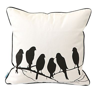 Pastoral Whisper Print Decorative Pillow Cover – USD $ 14.99