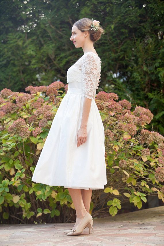 short retro wedding dresses uk%0A     best Short Wedding Dresses images on Pinterest   Short wedding gowns   Wedding frocks and Homecoming dresses straps
