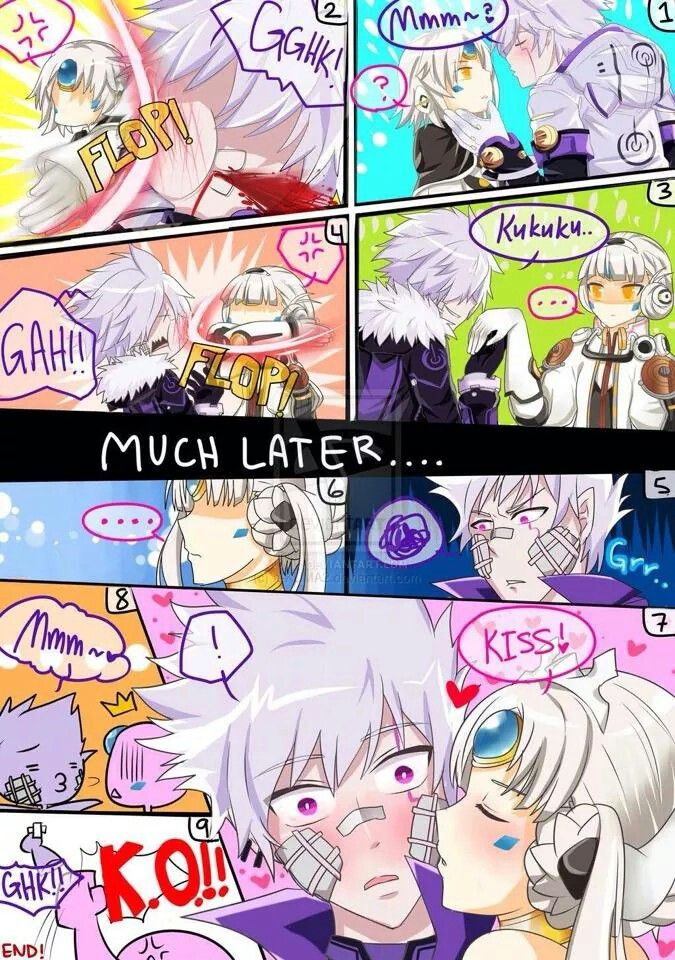 So.... Elsword was the first to be slapped and treated this way by Eve........ Eve x Elsword Ftw! (Sorry if I offend)