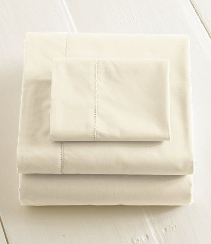280-Thread-Count Pima Cotton Percale Sheet, Fitted: Fitted Sheets | Free Shipping at L.L.Bean