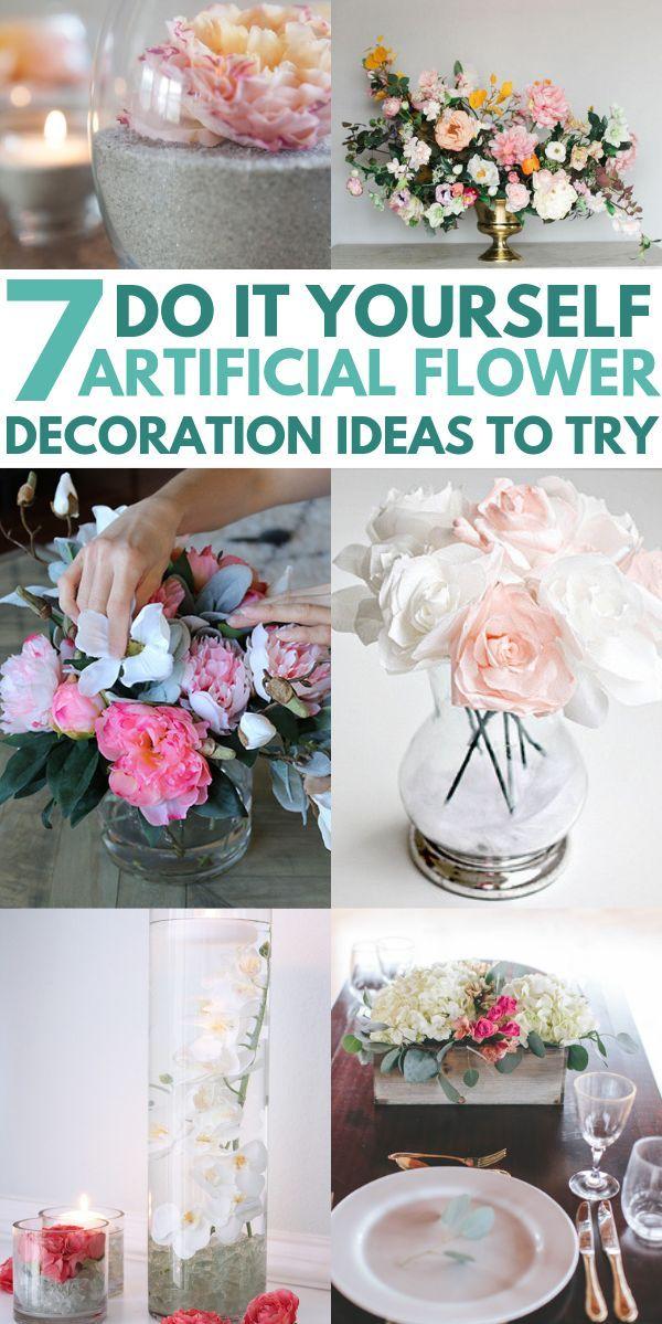 7 stunning diy artificial flower decoration ideas simple wedding rh pinterest com