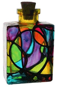 Image detail for -Innovative Handicrafts: Simple and decorative Glass bottle painting