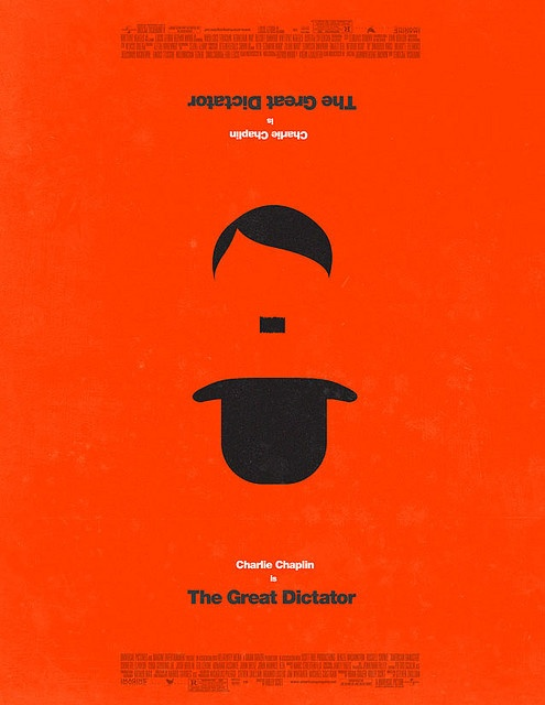 Chaplin's 'The Great Dictator' by Olly Moss
