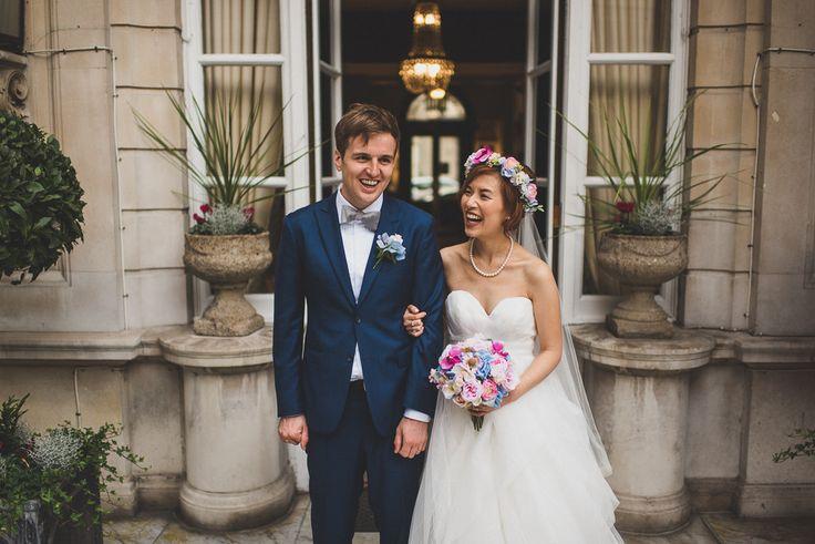 Elegant Dartmouth House Wedding in Mayfair London | My London Wedding Planner | Hayley Paige Tulle Gown | Pastel Flower Crown & Bouquet | Matt Penberthy Photography | http://www.rockmywedding.co.uk/michelle-sam/
