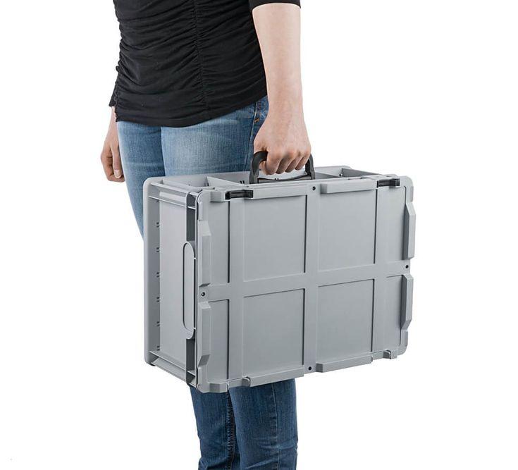 """Eurobox """"Portable"""" mit Deckel & Koffergriff, 60 x 40 x 32 cm - ab-in-die-BOX.de Home"""