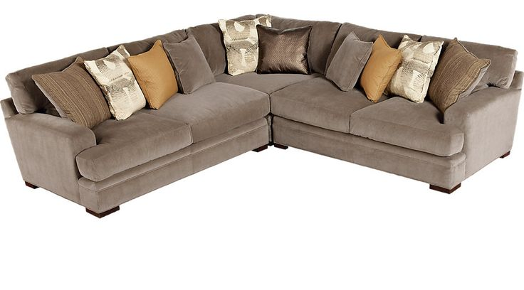 Cindy Crawford Home Essex Street Granite 3 Pc Sectional from  Furniture