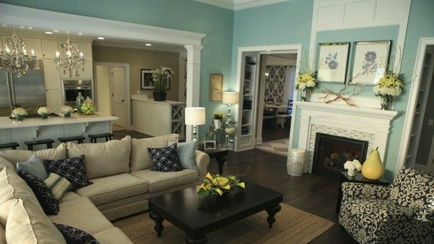 I love this!Wall Colors, Decor Ideas, Living Rooms, Color Schemes, Livingroom, Open Floors Plans, Colors Schemes, Wall Colours, Families Room