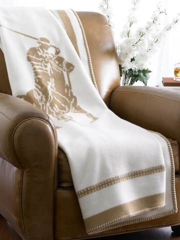 Ralph Lauren Home Polo Player Throw Blanket
