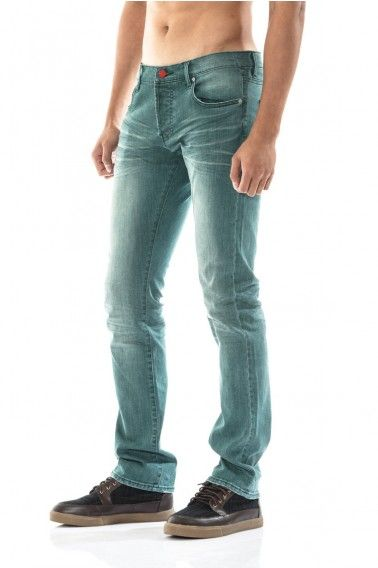 play hard. smaragd super-soft drain pipe jeans with vegetable dye. hand shaved.