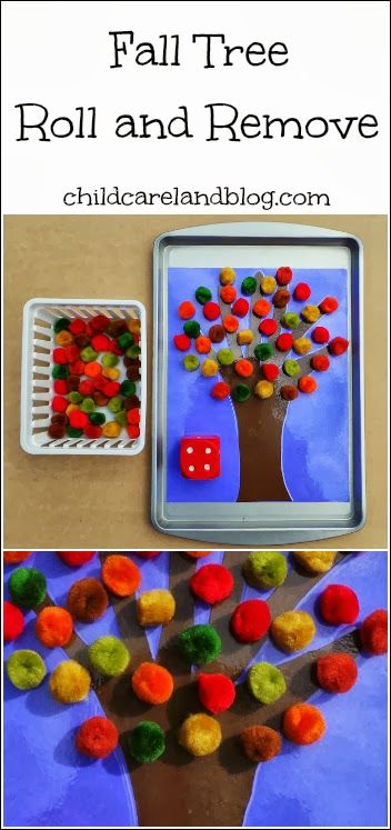 Fall Tree Roll and Remove ... another great activity for math and fine motor.