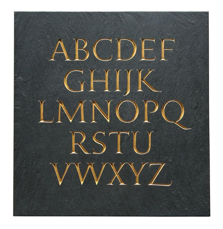 Nick Benson Slate Alphabet Calligraphy AlphabetTypography