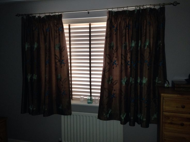 Home made curtains for our bedroom
