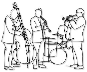 Jazz band coloring pages ~ Jazz Band Coloring Pages
