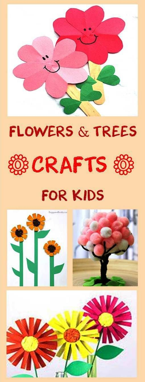 Flowers and trees crafts for kids cheer and cherry pt