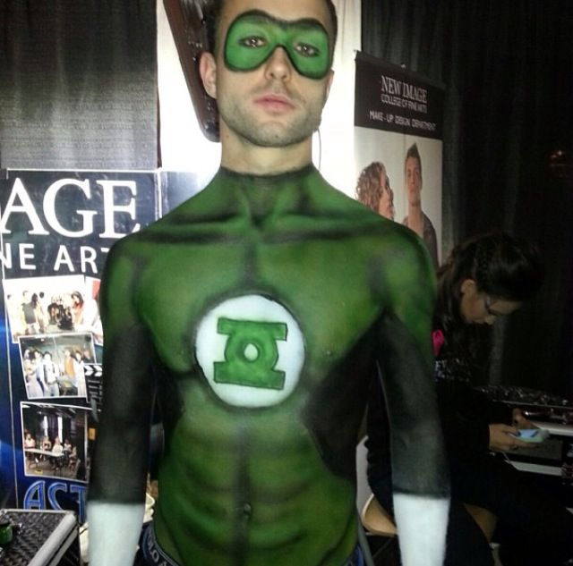 green lantern makeup makeup done by katelyn cartwright makeup pinterest makeup - Where Can I Get Halloween Makeup Done