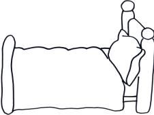 coloring pages of beds - photo#30
