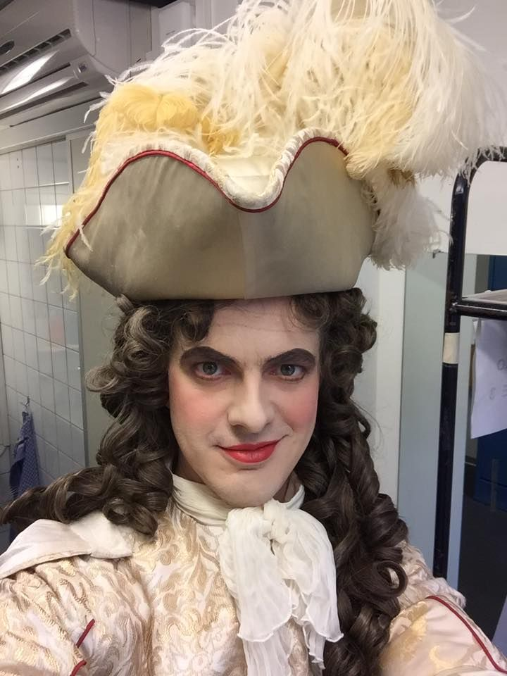 Philippe Jaroussky as Ruggiero, getting ready for the premiere of Alcina at the Opernhaus Zürich