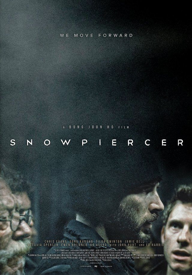 Snowpiercer (2013) chris evans stars in a post-apocalyptic dystopian movie were all that's left of humanity is on one train.
