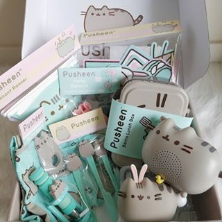 So excited to open my @pusheenbox Spring Box today!  Had to post a teaser asap, everything is so cute, as always. I'm in love with the bento box  I literally squealed when I saw it More photos of everything inside and blog post will be up by tommorrow  #pusheen #pusheenbox #pusheenthecat #springbox #lifestyleblogger